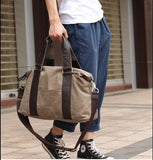 casual stylish khaki Duffel Bag- side view