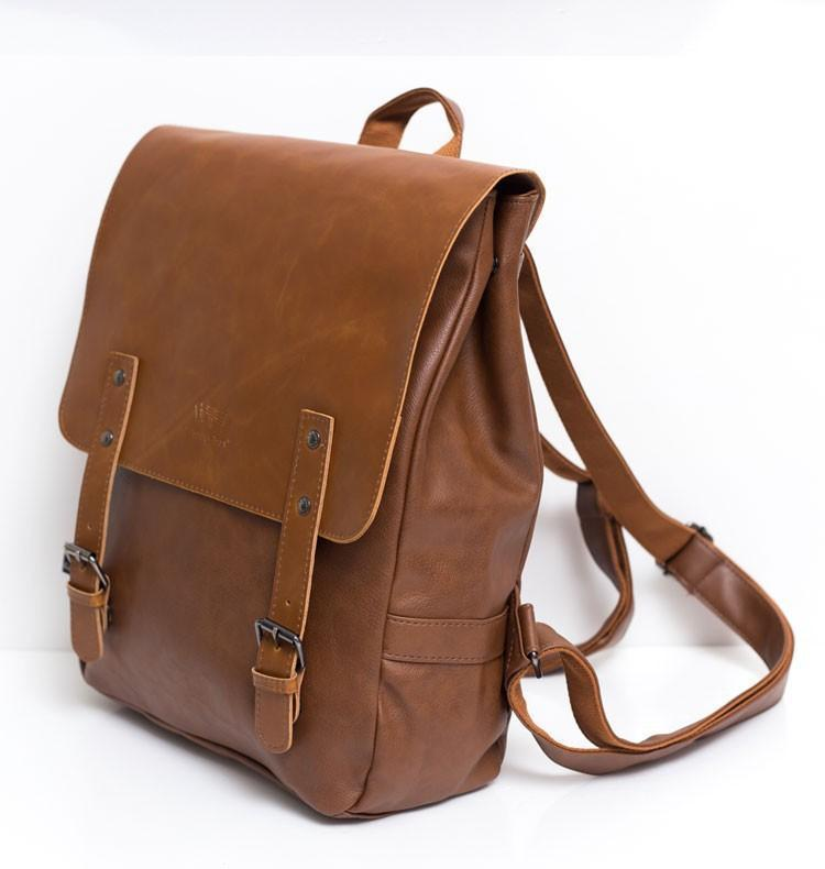 Vintage Messenger Style Backpack-bag-bagprime-Black-BagPrime - Global Prime Bag Fashion Platform