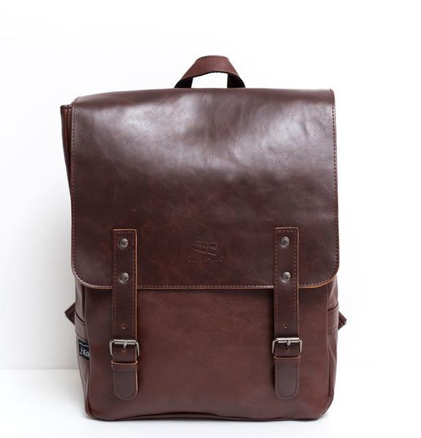 Vintage Messenger Style Backpack-bag-bagprime-Brown-BagPrime - Global Prime Bag Fashion Platform