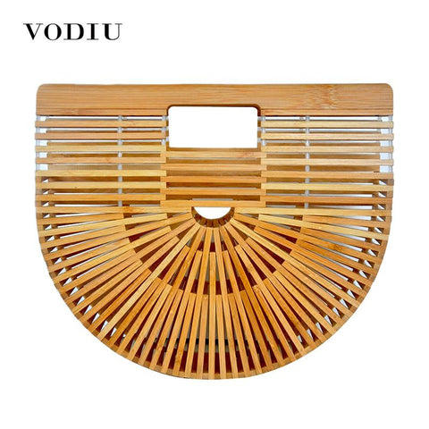 VODIU Bamboo Basket Summer Bag