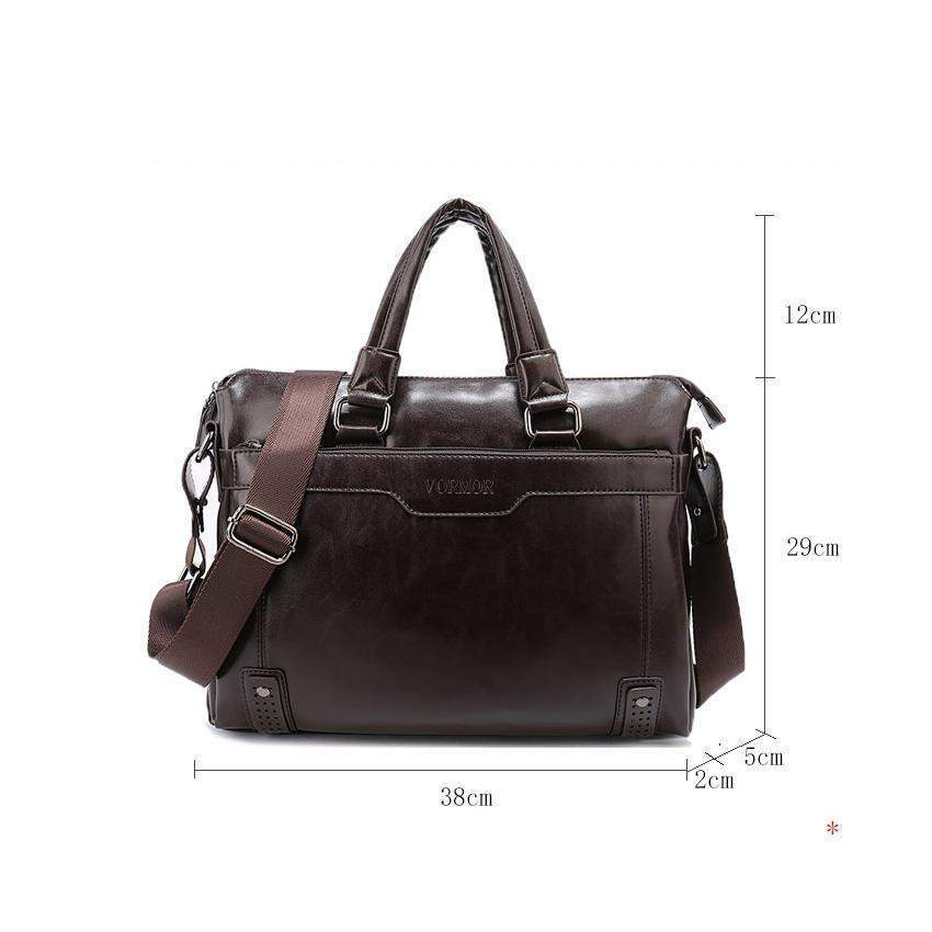 VORMOR Classic Leather Business Bag - BagPrime - Look Your Best with Amazing Bags