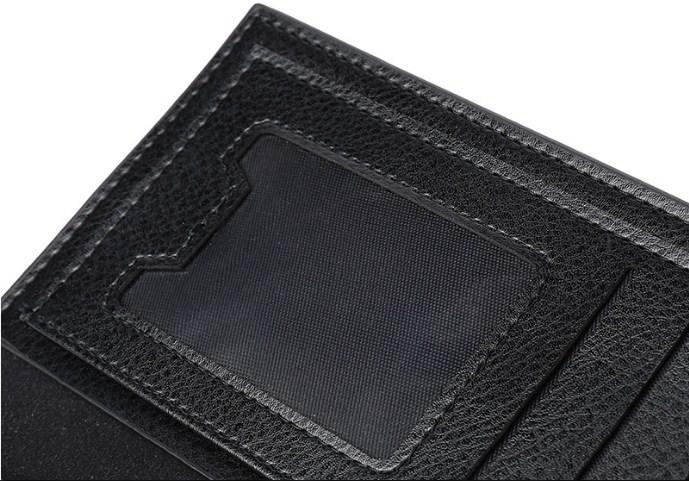 Casual Stylish Black Classic Wallet - Close Internal View