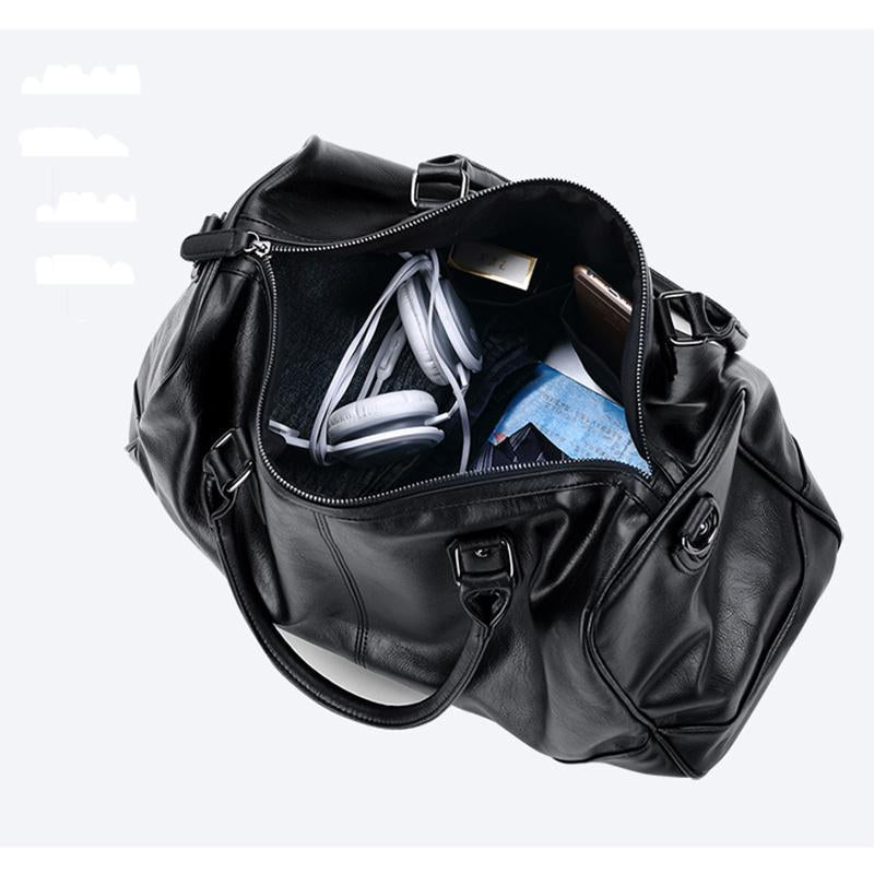 VORMOR Edgy Leather Duffel Bag - BagPrime - Look Your Best with Amazing Bags