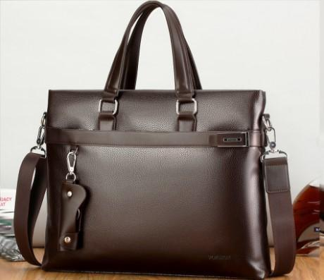 Casual Stylish Brown MODERN BUSINESS BAG- Side View