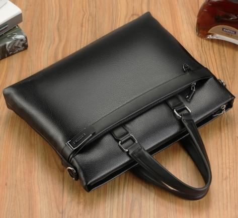 Casual Stylish Black MODERN BUSINESS BAG- Top View