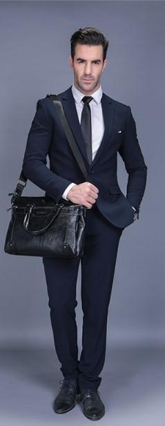 Professional Stylish Man With Black RUSTIC SLING BAG- Side View