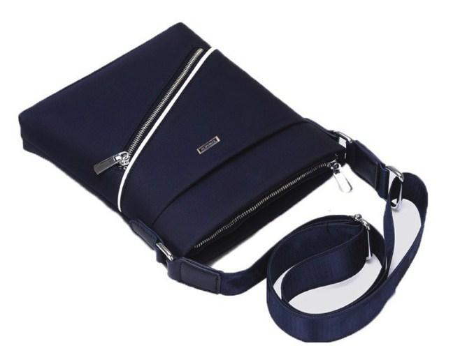 Casual Stylish Blue Urban Inspired Sling Bag - Top View