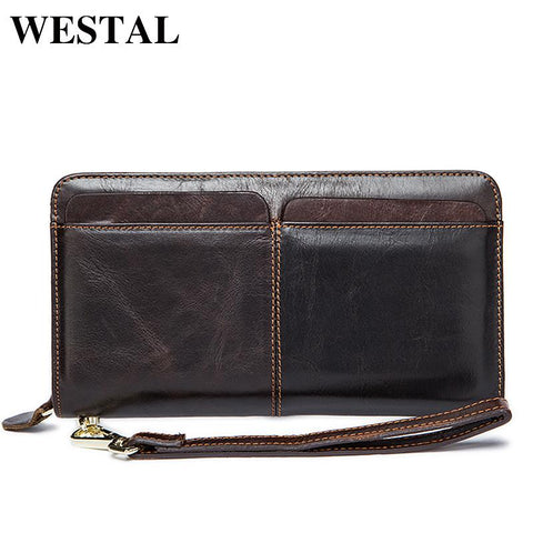 WESTAL Rustic Leather Wallet - BagPrime - Look Your Best with Amazing Bags