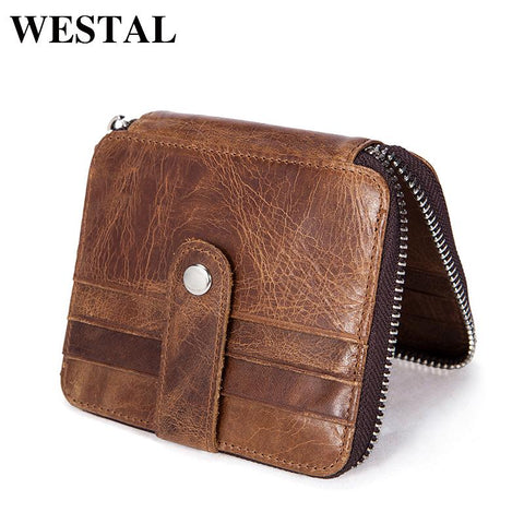 WESTAL Rustic Zipped Wallet