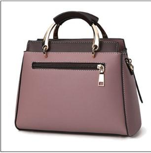 Casual Stylish Purple Structured Handbag-Back View