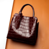 YAGELI Crocodile Patterned Handbag - BagPrime - Look Your Best with Amazing Bags