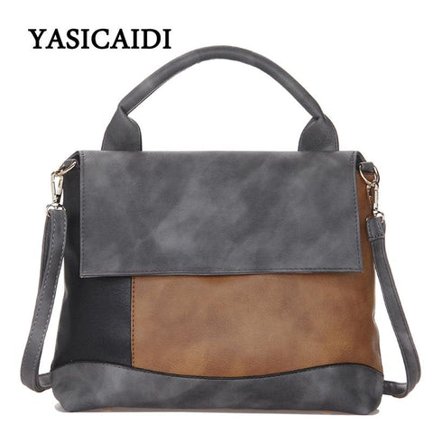 YASICAIDI Patchwork Satchel Bag - BagPrime - Look Your Best with Amazing Bags