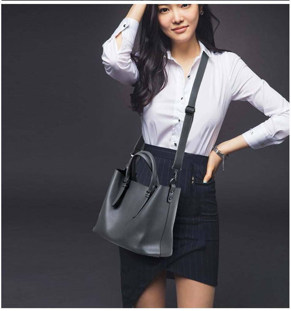 professional stylish woman with Black Tote Bag - Front view