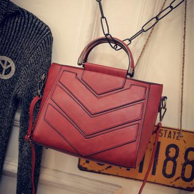 YBYT Chevron Patterned Handbag - BagPrime - Look Your Best with Amazing Bags
