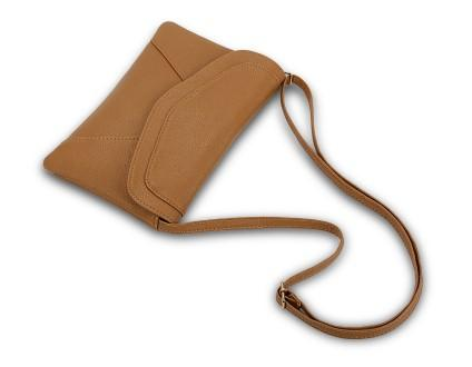 Casual Stylish Khaki Envelope Style Messenger Bag- Top View