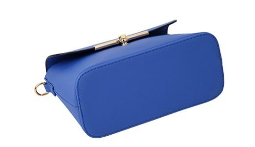 Casual Stylish Blue Modern Chic Messenger Bag- Bottom View
