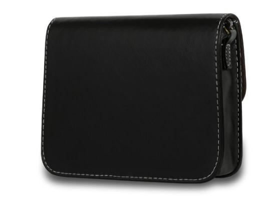 Casual Stylish Black Vintage Messenger Bag- Back View