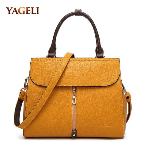 YEGELI Zipped Satchel Bag - BagPrime - Look Your Best with Amazing Bags