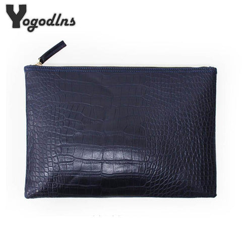 YOGODLNS Crocodile Patterned Clutch - BagPrime - Look Your Best with Amazing Bags