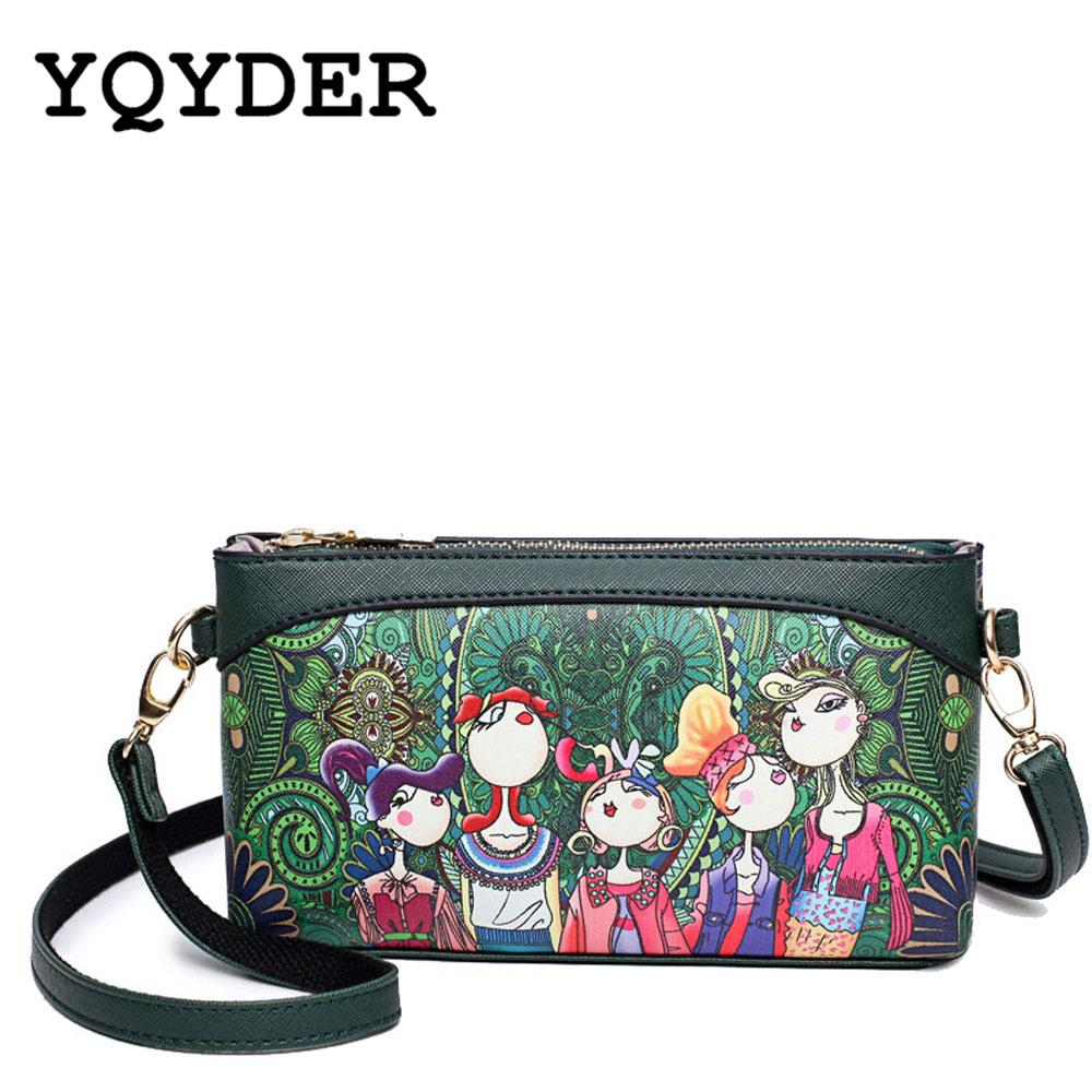 YQYDER Graphic Print Crossbody Bag - BagPrime - Look Your Best with Amazing Bags