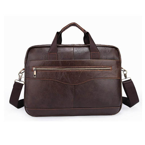 YUNAI Leather Laptop Bag - BagPrime - Look Your Best with Amazing Bags