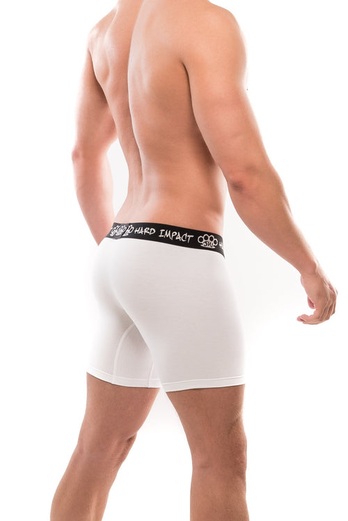 JW Collection Hard Impact Comfort Collection long Boxer White