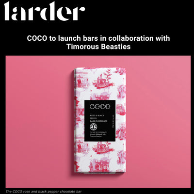 Larder: COCO to launch bars in collaboration with Timorous Beasties