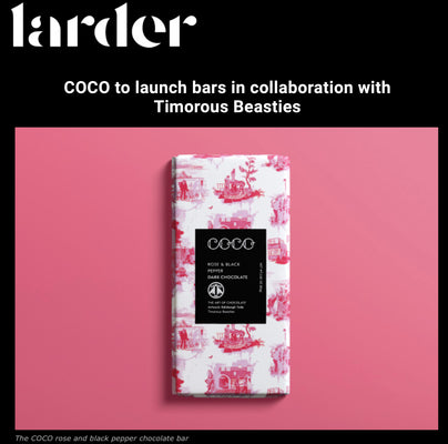 Larder: COCO to launch bars in collaboration with Timorous Beasties Jan 20