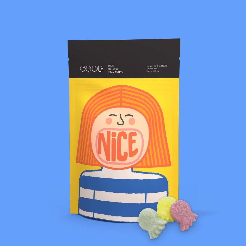 Sour Octopus Foam Sweets, featuring 'Nice'