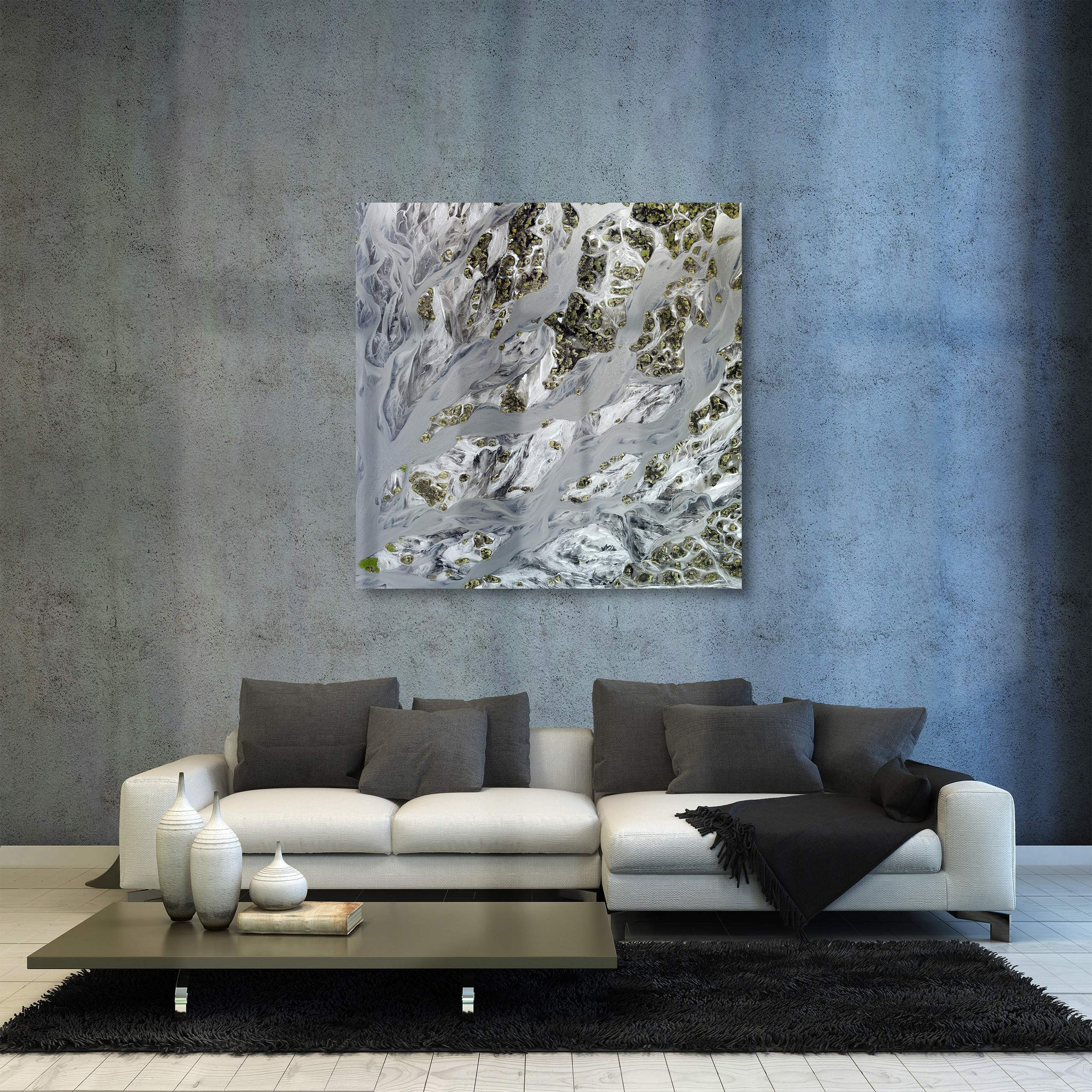 Sandy islands, fine art acrylic artwork