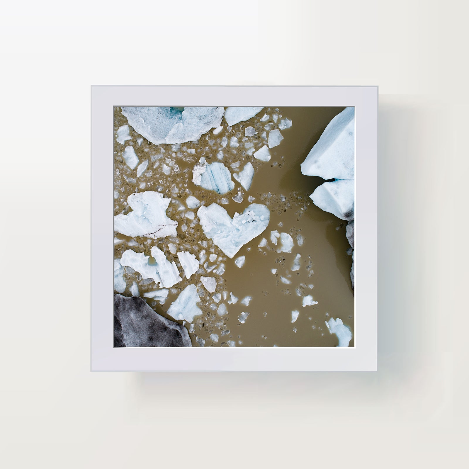 Heart shaped ice, photo art print