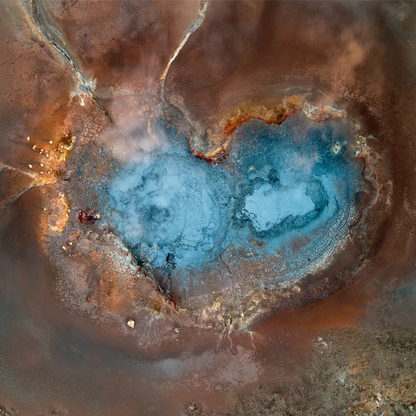 Heart shaped geysir, photo art print