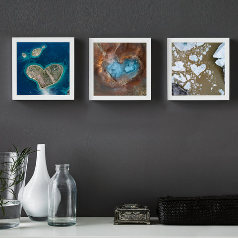 Heart shaped collection - Three-piece collection, photo art print