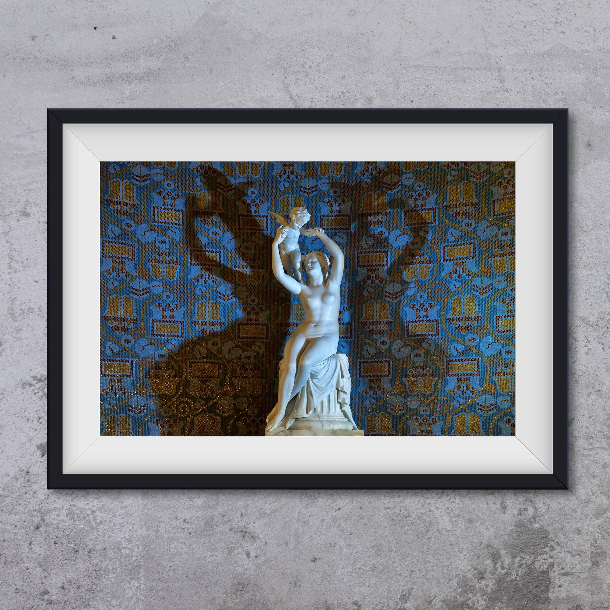 Gellert SPA, Budapest - Statue of Venus and Cupid, photo art print