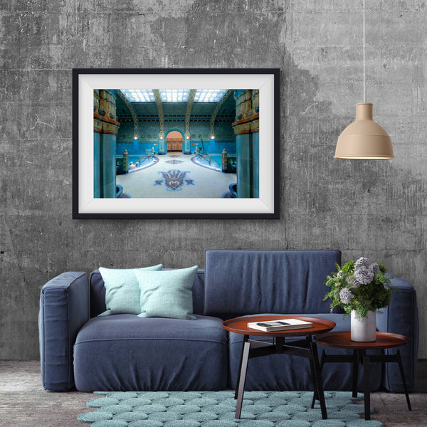 Gellert SPA Budapest, men's thermal pool, photo art print