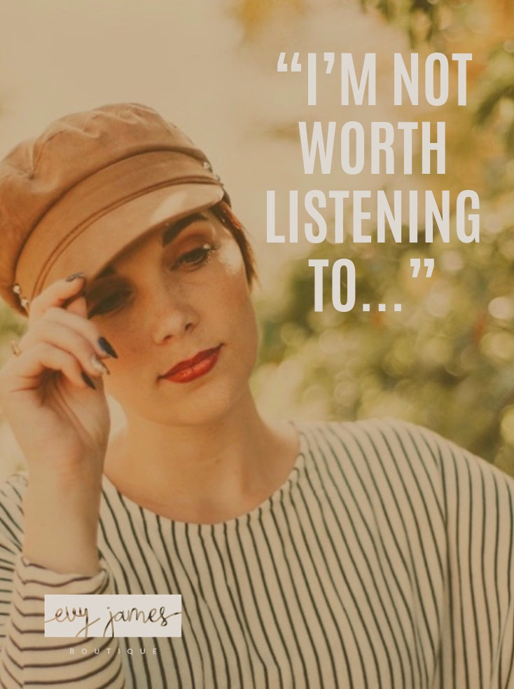 """I'm not Worth Listening to..."""