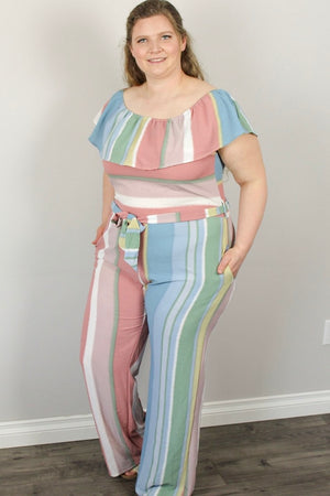 Ruth - Stripe Jumpsuit