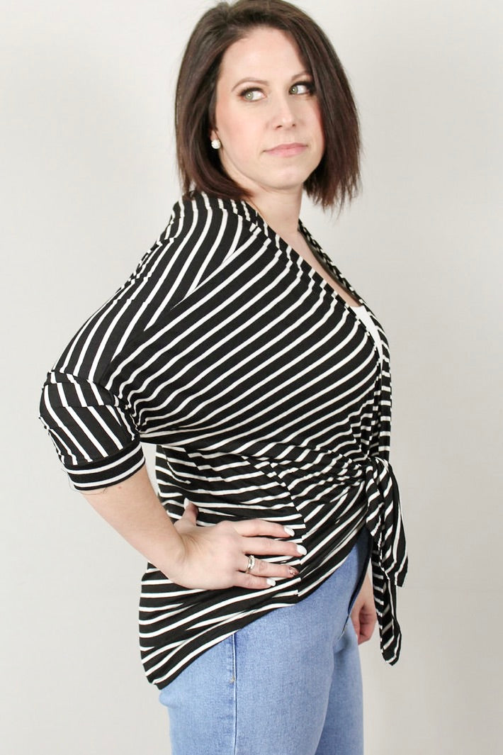 Essential Stripe Cardigan