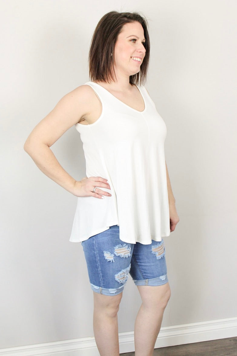 Essential Bamboo Vneck Tank