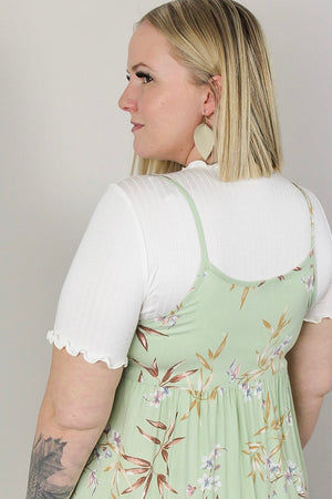 Essential Crinkled Neck Tee