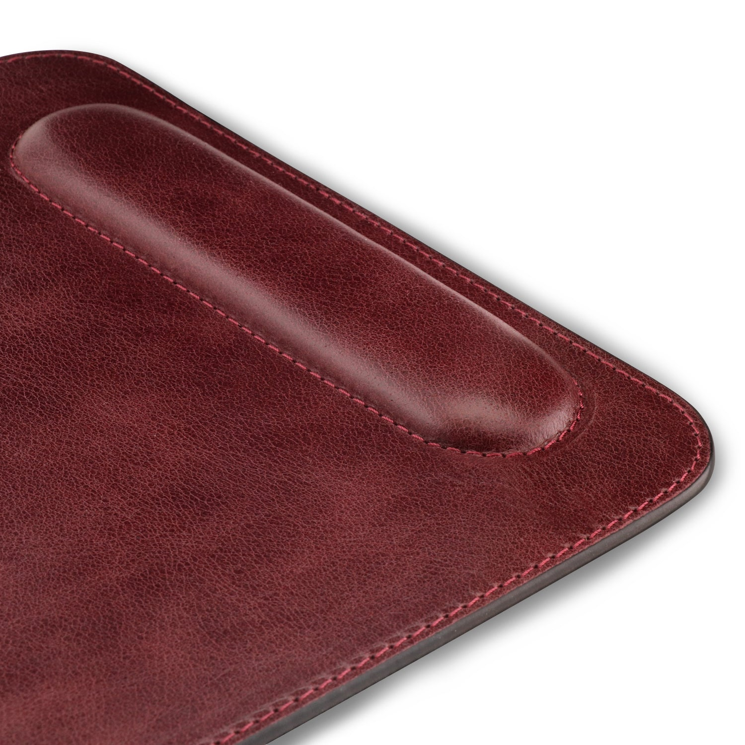 Brown Londo Genuine Leather Mouse pad with Wrist Rest