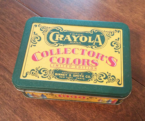 The tin of old crayons I found in the basement
