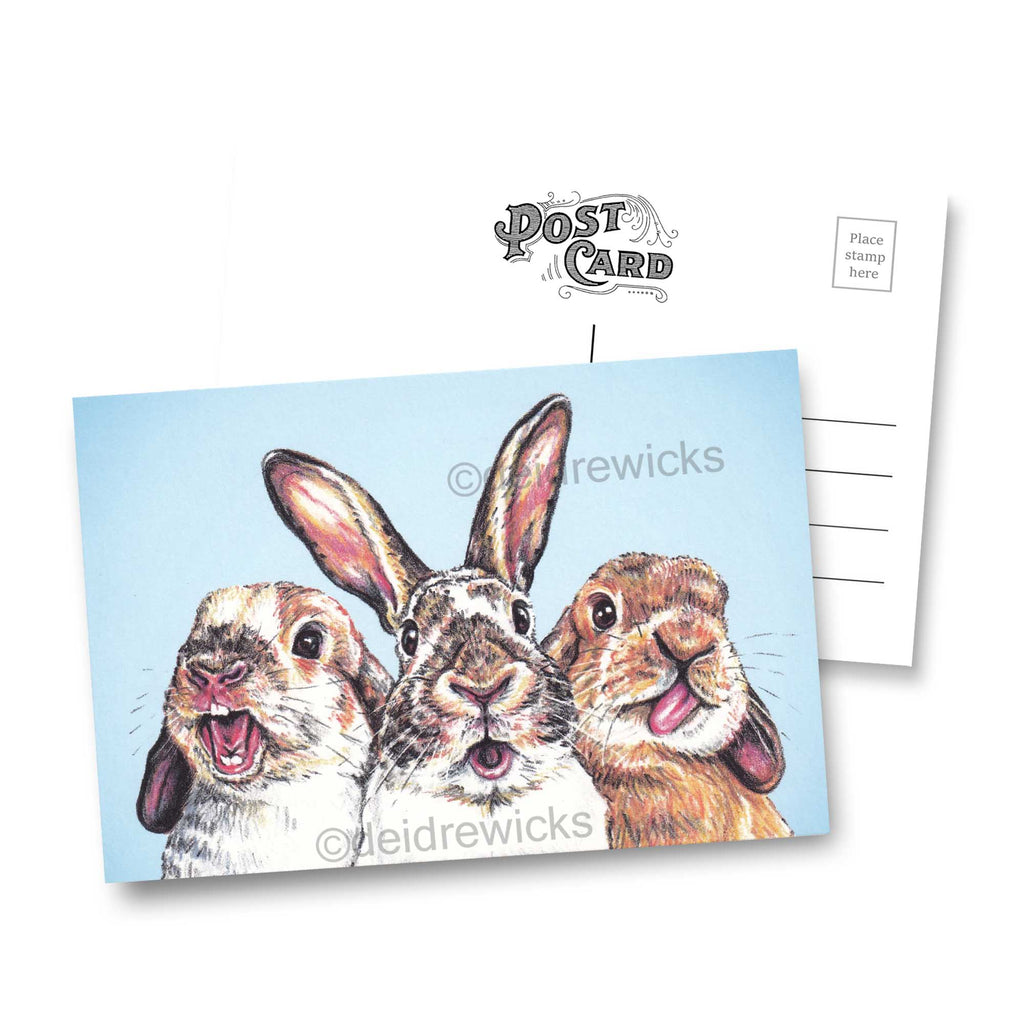 Send a rabbit postcard by Deidre Wicks to someone you love