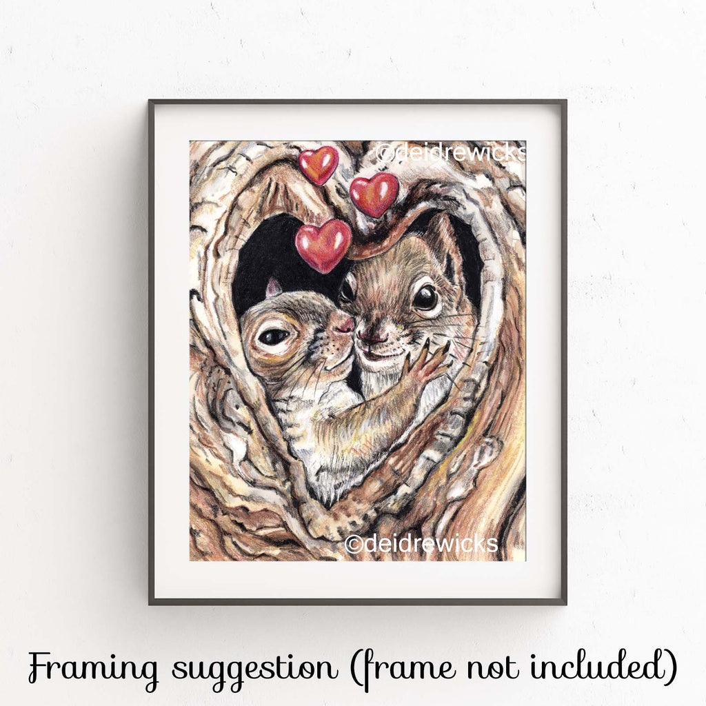 suggested framing for a squirrel fine art print