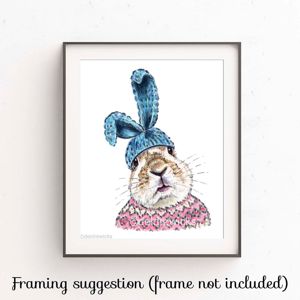 Suggested framing for a fine art crayon print by Deidre Wicks