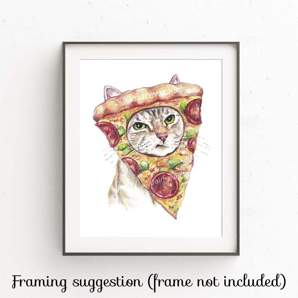 Example of how to frame a cat art print