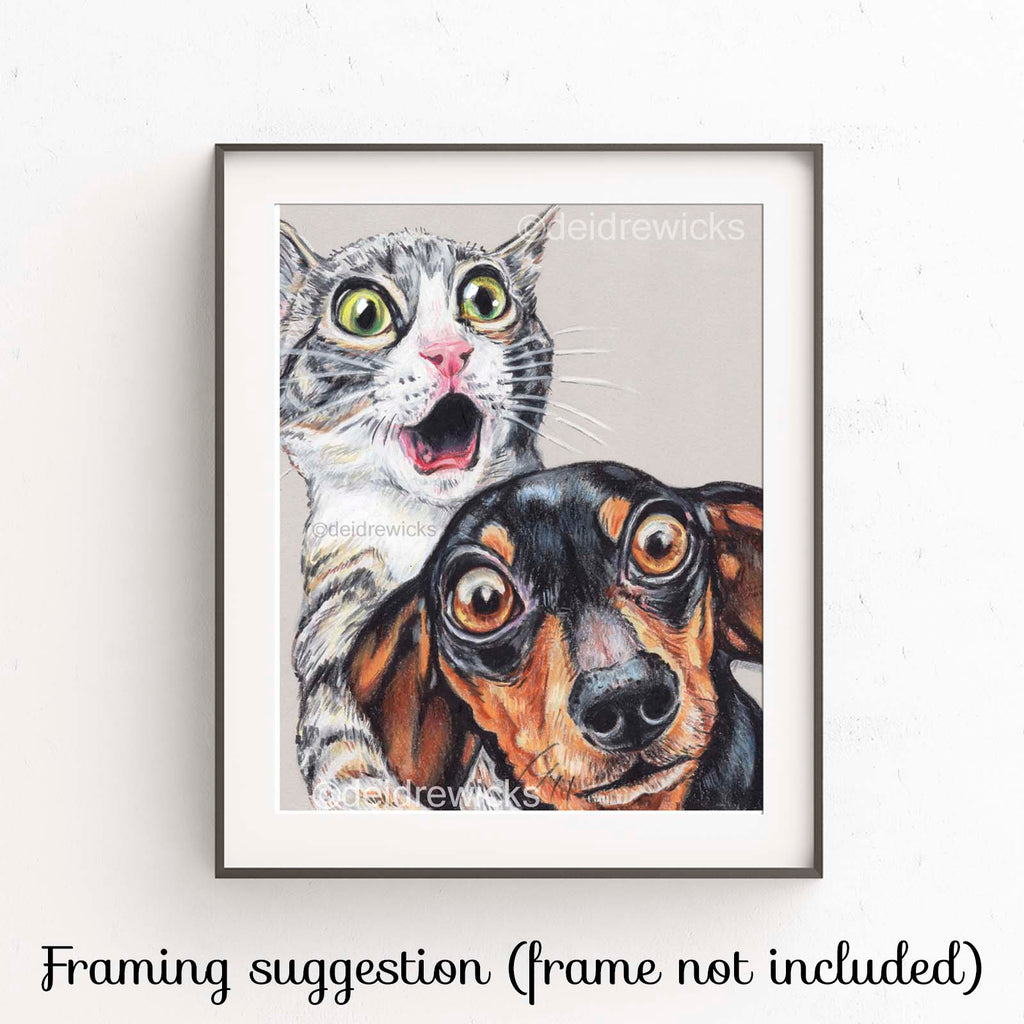 Suggested framing for an animal fine art print by Deidre Wicks