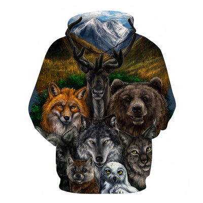 Stylish Animal Printed Hoodie