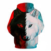 Different pupil Wolf Hoodie