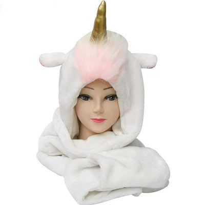 Cute Cartoon Unicorn Scarf